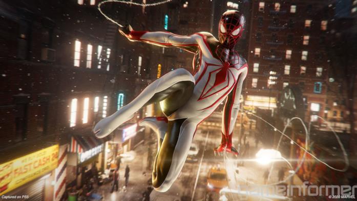 Miles Morales con il costume T.R.A.C.K. di Marvel's Spider-Man: Miles Morales