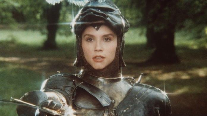Alessandra Martines come cavaliere in Fantaghirò