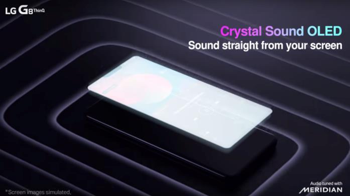Immagine promozionale della tecnologia Crystal Sound OLED