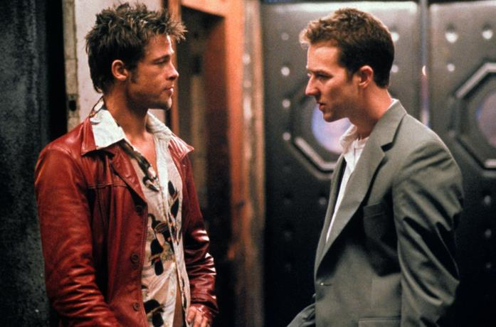 Edward Norton e Brad Pitt in Fight Club