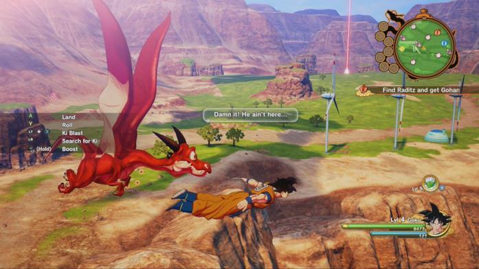 Kakarot mondo di gioco