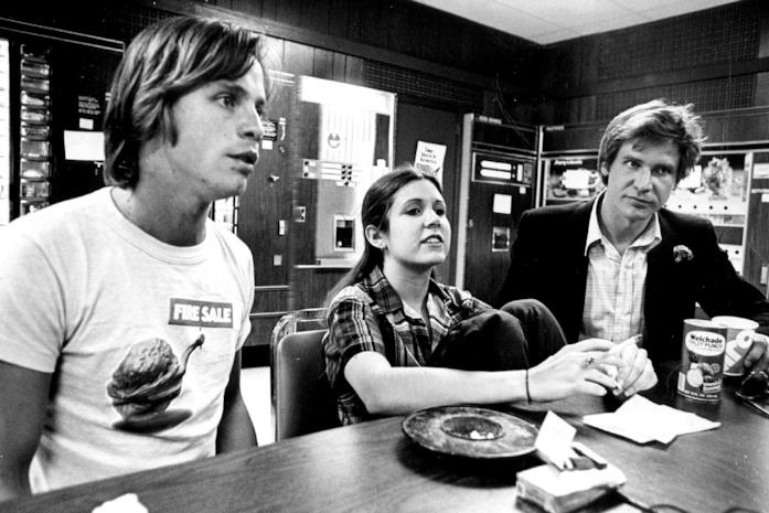 Carrie Fisher, Mark Hamill e Harrison Ford