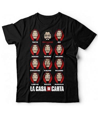 T-Shirt Ispirata La Casa di Carta