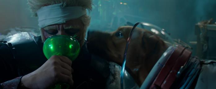 Benicio del Toro e Cosmo in Guardiani della Galassia