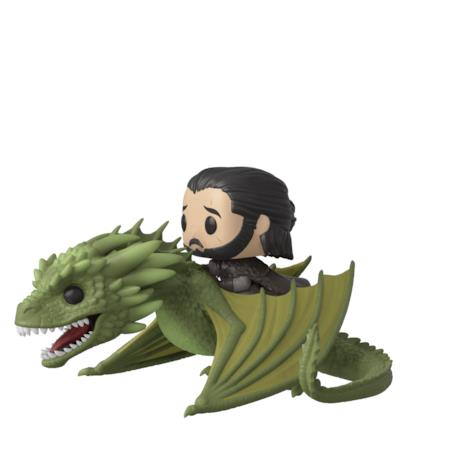 Jon a cavallo di Rhaegal in versione Funko Pop!