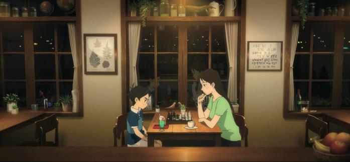 Aoyama e la Sorellona giocano a scacchi
