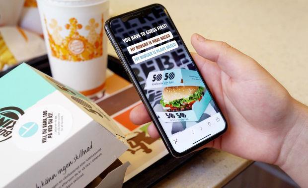 Burger King: applicazione per il menu 50/50 lanciato in Svezia