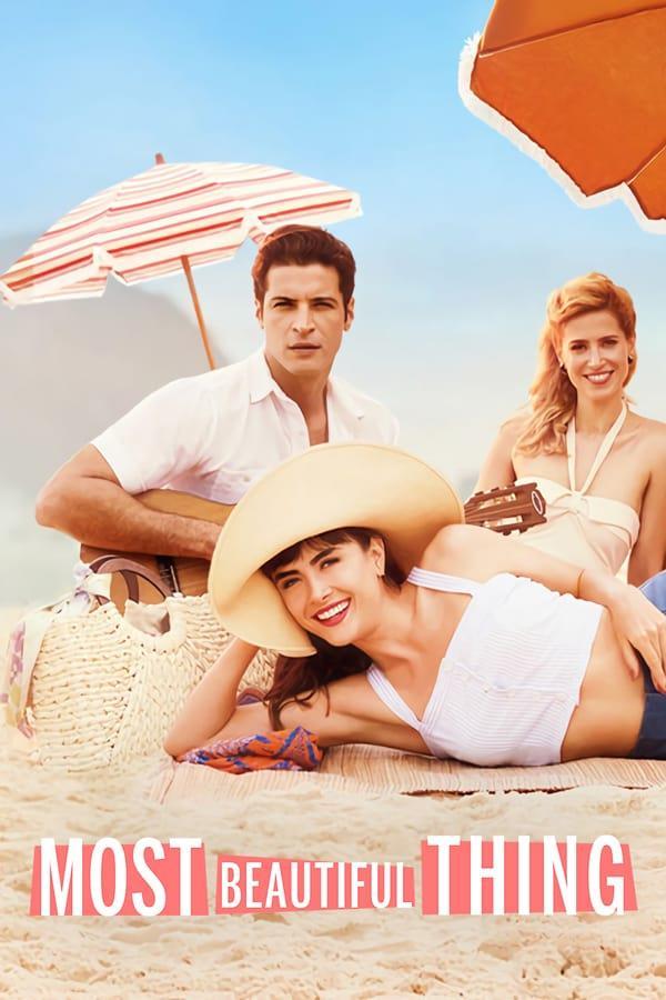 Il cast de La cosa più bella nel poster della serie