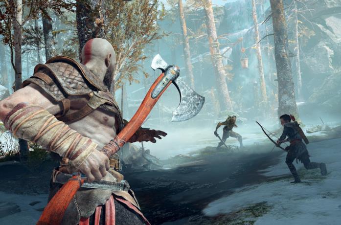 Kratos combatte nel nuovo God of War