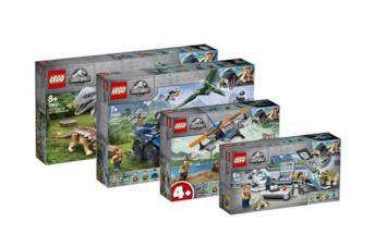 I quattro set LEGO dedicati a Jurassic World