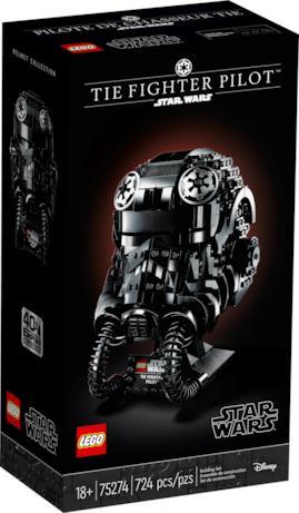 La confezione del casco LEGO del TIE Fighter Pilot