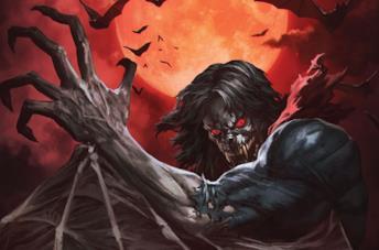 Dettaglio della cover di Morbius #3