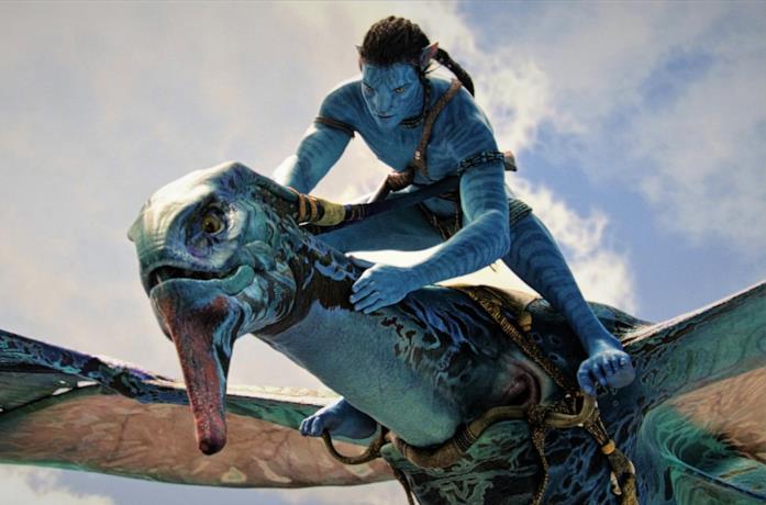 Sam Worthington, in una scena di Avatar