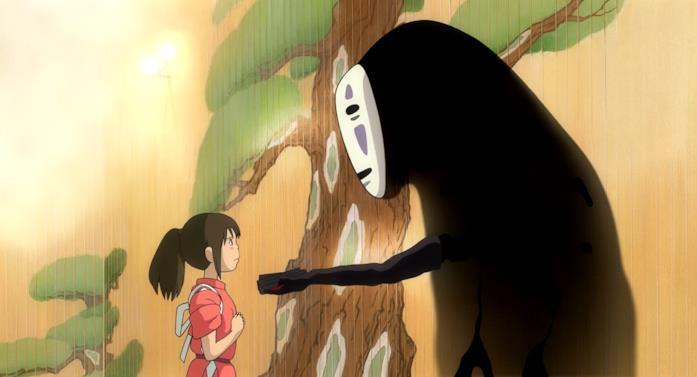 Lo spirito Senza Volto offre degli omaggi a Chihiro