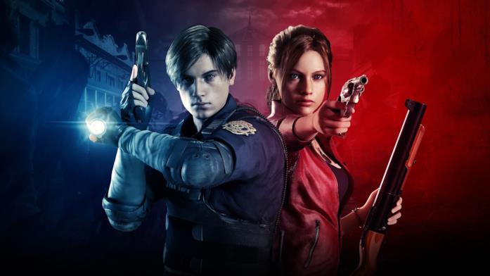 Un'immagine di Leon e Claire dal remake di Resident Evil 2