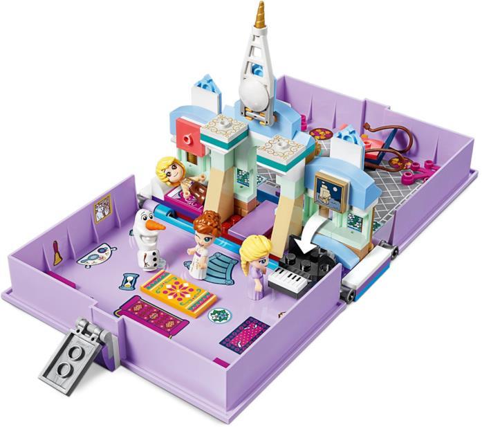 Il set LEGO Frozen 2 Il libro delle fiabe di Elsa e Anna visto dall'alto