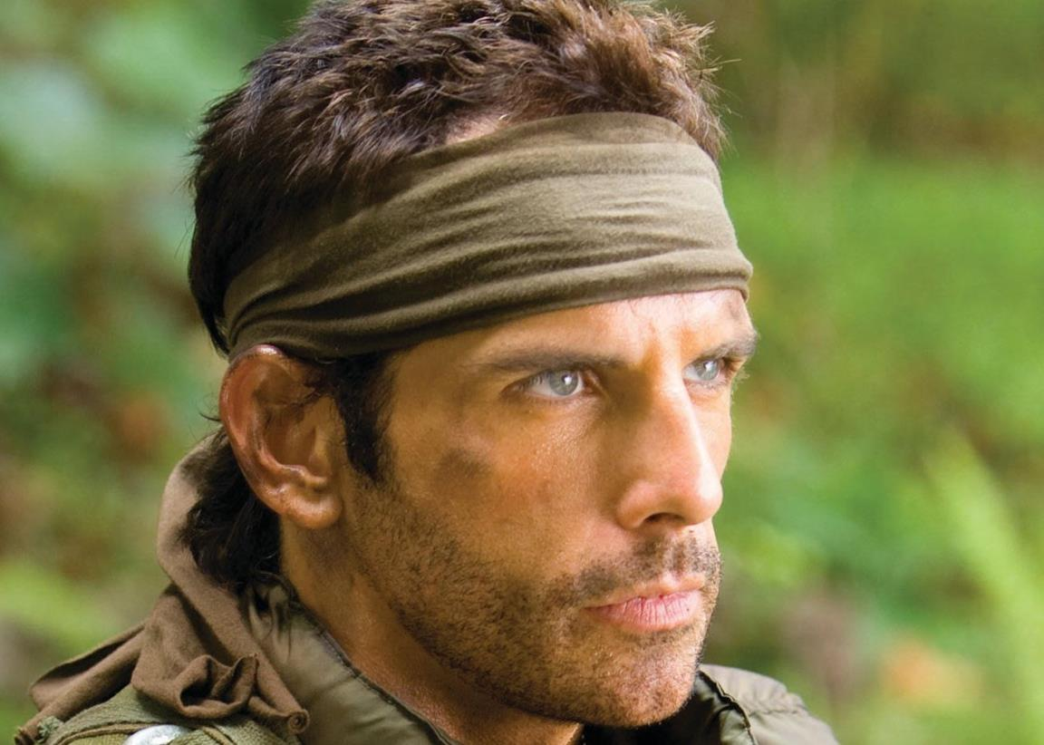 Ben Stiller in una scena del film Tropic Thunder