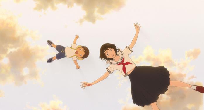 Kun e Mirai in una scena del film di Mamoru Hosoda