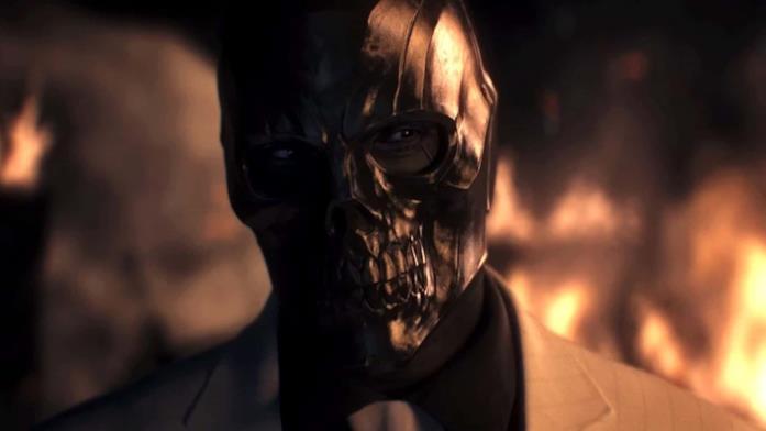 Un'immagine di Black Mask nel videogioco Batman Arkham: Origins