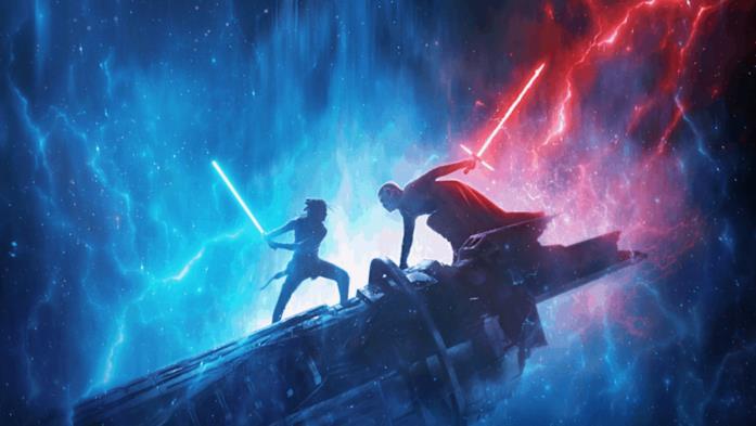 Una scena di Star Wars: L'Ascesa di Skywalker