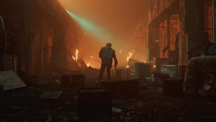 Miles si prepara ad affrontare Riktor nel finale del film