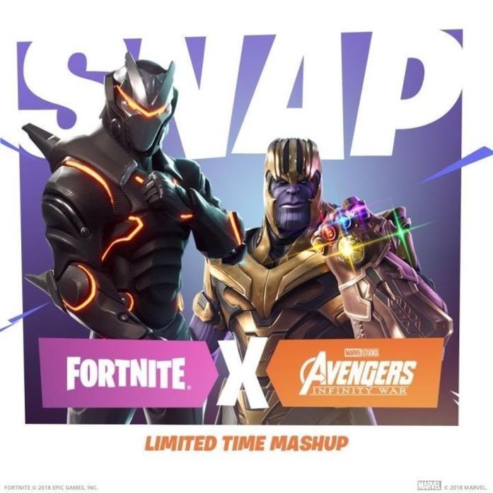 Un evento crossover tra il videogame Fortnite e Avengers: Infinity War
