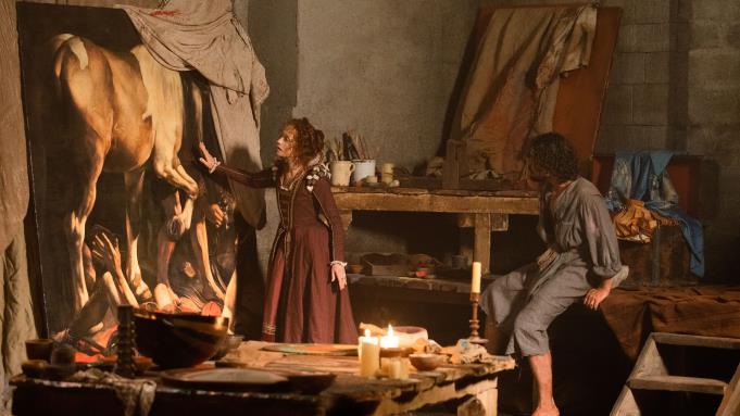 Caravaggio si trova all'interno del suo studio
