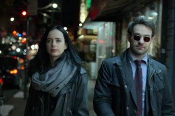 Daredevil e Jessica Jones nelle serie Netflix/Marvel