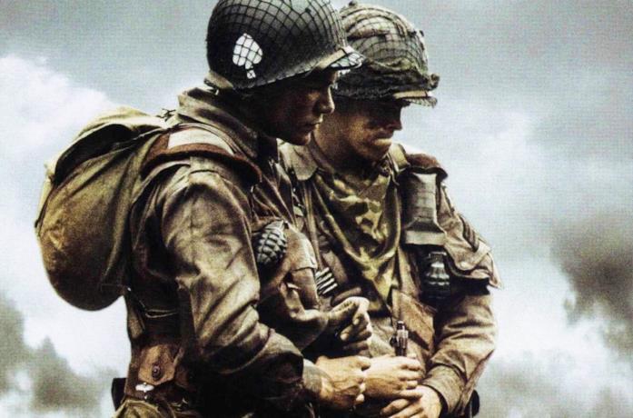 Due soldati americani dalla serie TV Band of Brothers