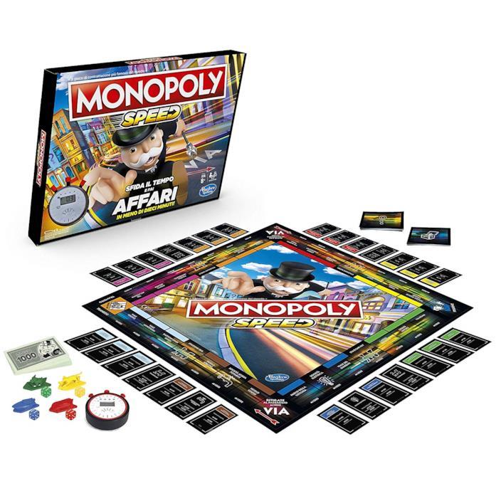 Il contenuto di Monopoly Speed