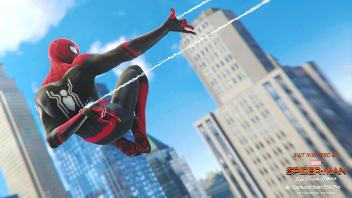 Immagine promozionale dell'Upgraded Suit ora disponibile in Marvel's Spider-Man per PlayStation 4