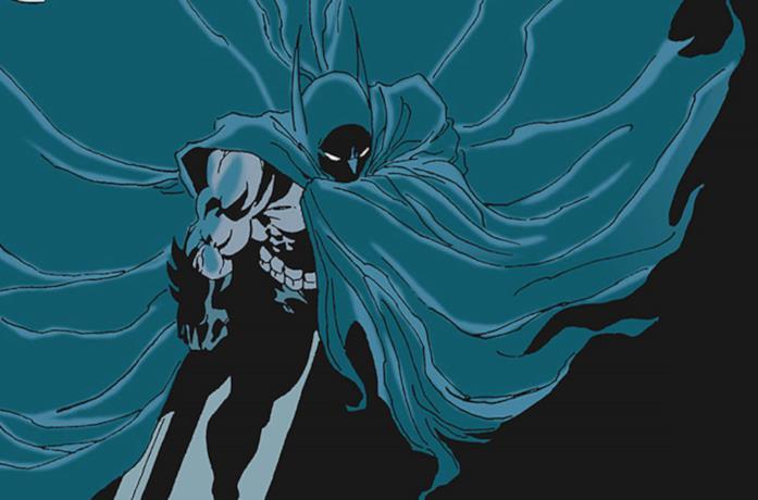 Un'illustrazione di Batman nella mini serie Il Lungo Halloween