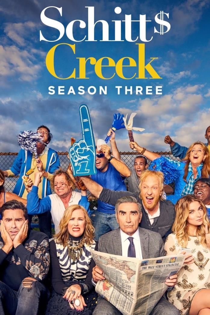 Il poster della stagione 3 di Schitt's Creek