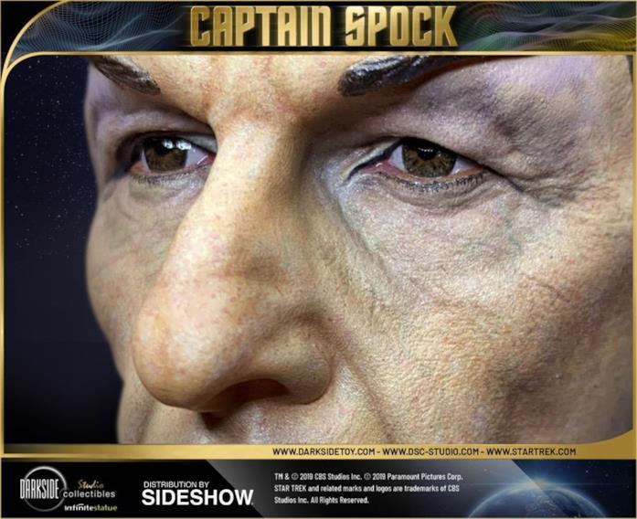 Capitan Spock statua da collezione - dettaglio occhi