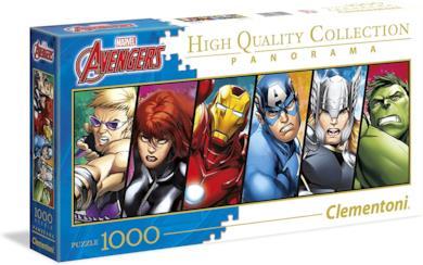 Clementoni The Avengers Disney Panorama Collection Puzzle, 1000 Pezzi