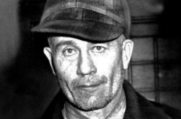 Ed Gein in primo piano