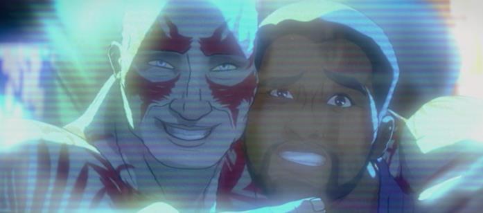 Drax si fa una foto con T'Challa