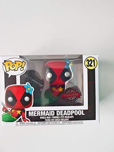 Funko Pop Vinyl Deadpool Mermaid Metallic Exclusive Edition #321