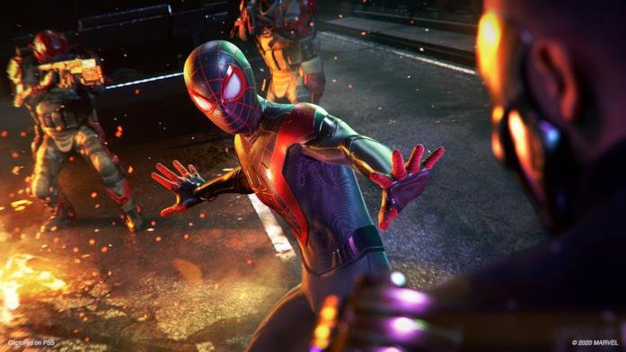Miles Morales in uno screen di Marvel's Spider-Man: Miles Morales per PlayStation 5