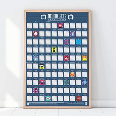 100 Box Sets - Poster da grattare