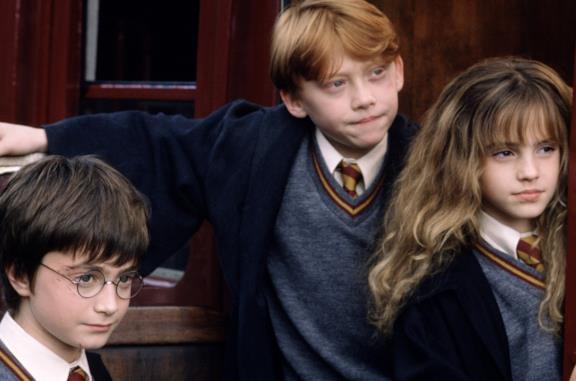 Daniel Radcliffe, Emma Watson e Rupert Grint ne La Pietra Filosofale