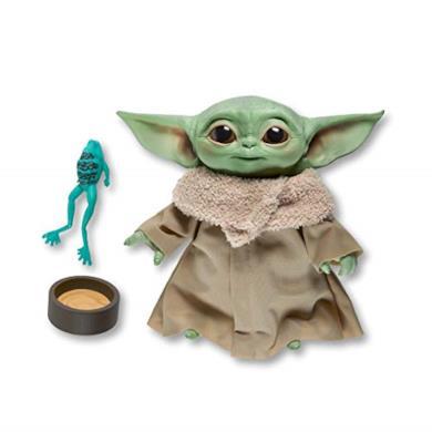 Star Wars - The Child (Peluche con Suoni ed Accessori tipici del Personaggio conosciuto Anche Come Baby Yoda, Ispirato alla Serie Disney+ The Mandalorian)