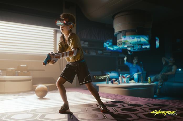 Uno degli splendidi artwork ufficiali di Cyberpunk 2077