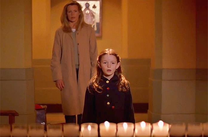 Kim Basinger e la piccola protagonista, Holliston Coleman, in La mossa del diavolo