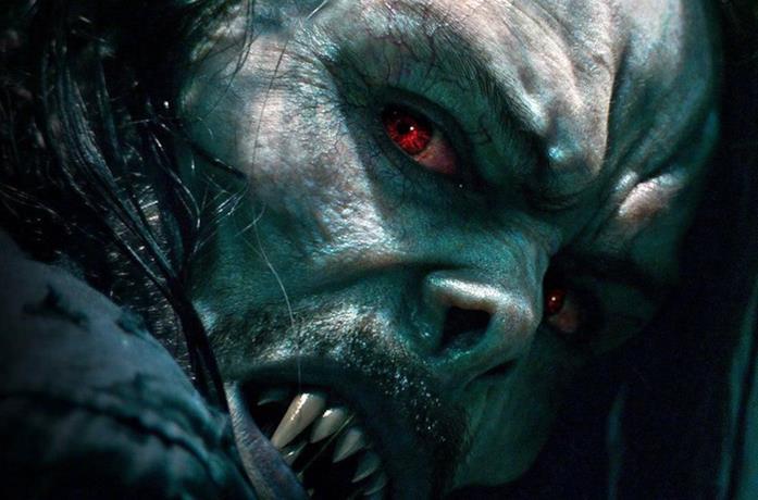 Primo piano di Morbius (Jared Leto)
