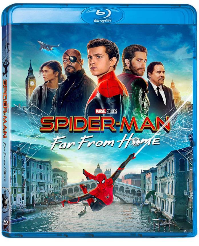 Cast nella copertina del cofanetto Blu-ray di Spider-Man: Far From Home