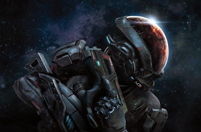 Una key art di Mass Effect