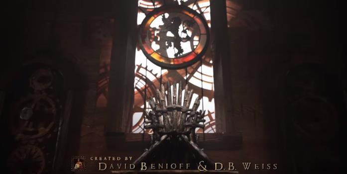 La sala del trono nella sigla di Game of Thrones 8