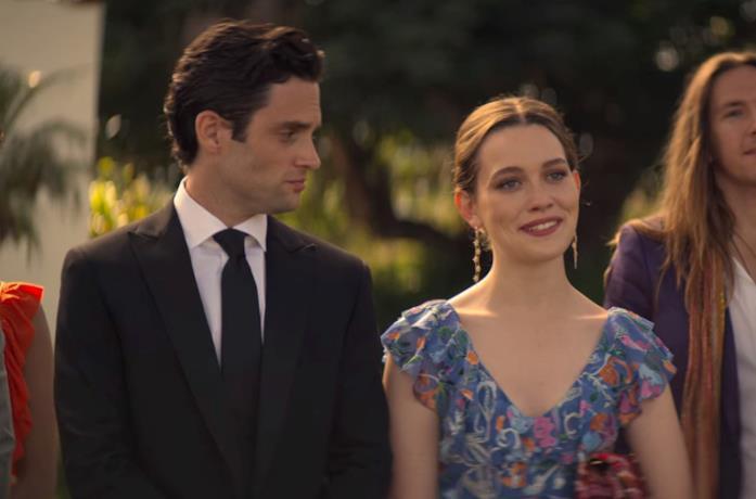 Penn Badgley e Victoria Pedretti, protagonisti della serie You