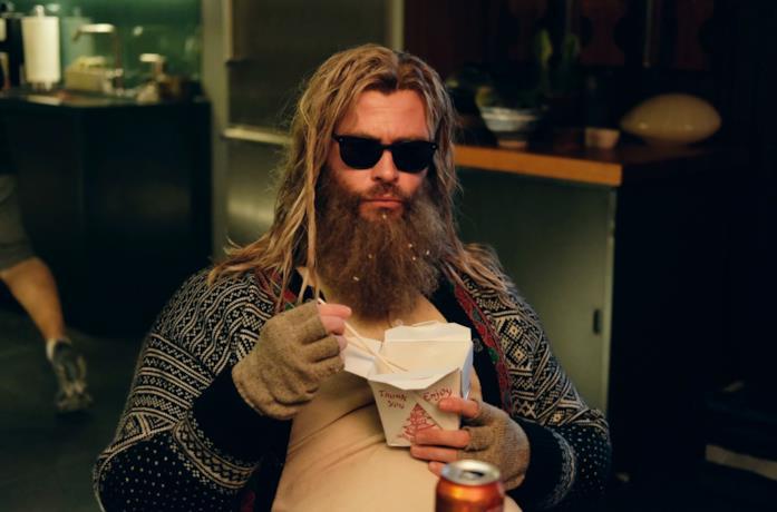 Chris Hemsworth, il 'Thor grasso' di Avengers: Endgame